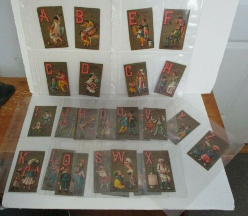 SOLLERS SHOES Victorian Trade Card Alphabet Full Set