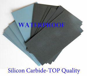"14 Pc. EXTRA FINE Sandpaper Wet  Dry 3""x 5 1/2"