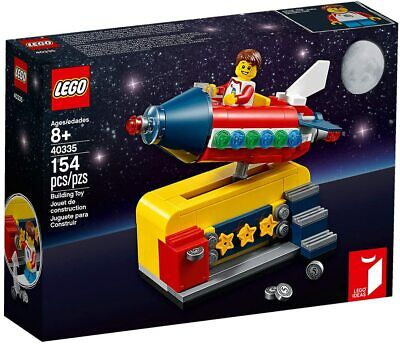 New/Sealed Lego Ideas Building Set 40335 - Coin Op Retro SPACE ROCKET RIDE