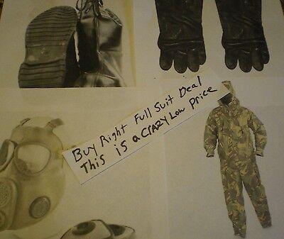 Nbc Suit Boots Gloves Mask Size L Nuclear Biological Chemical Hazmat Radiation