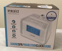 Homedics Soundspa Projection Digital FM Clock Dual Alarm Radio NEW SS-4520B