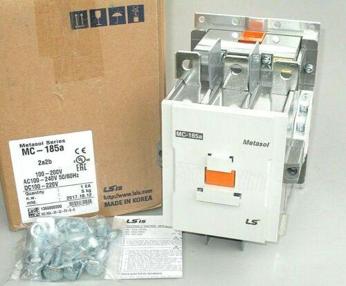 LS Metasol MC-185A Contactor, 100-240VAC or 100-220VDC Coil, 125 HP, 2 NO + 2 NC