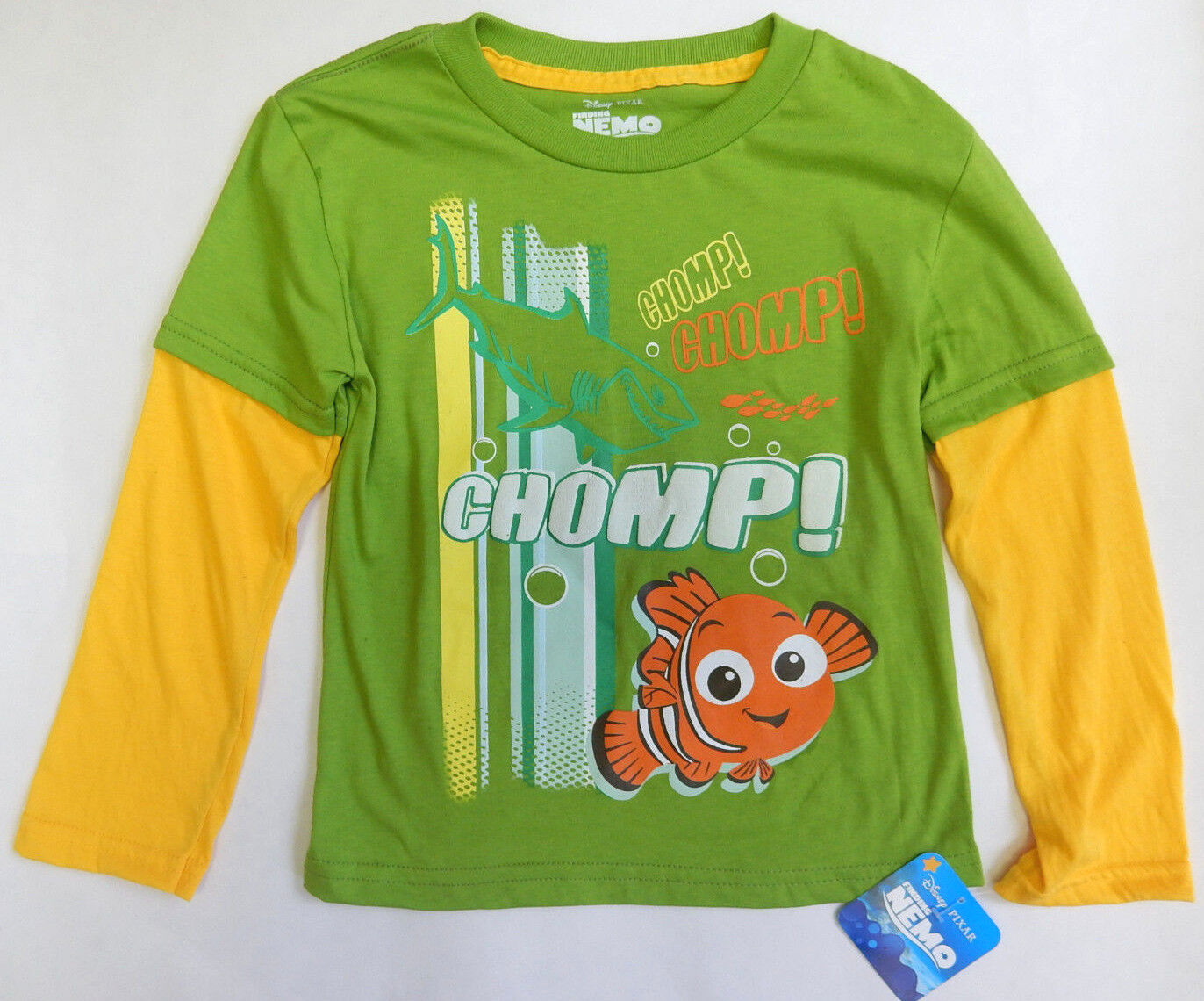 Disney 4T Finding Nemo Layered Long Sleeve Shirt Toddler Boy Clothing  - $14.99