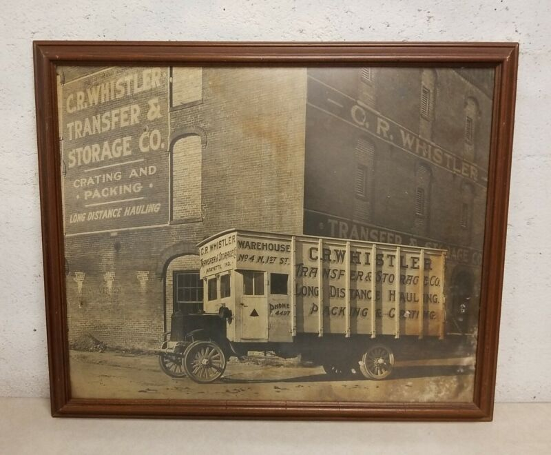 Large C.R. WHISTLER TRANSFER & STORAGE CO. Framed Print, Lafayette, Indiana