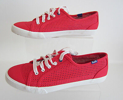 Keds Celeb Perf CVS WF43995 Red Ladies Lace Up Canvas Shoe UK 2.5 to 5 (R43B)
