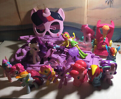 MY LITTLE PONY LOT Friendship Express Motorized Train And Lots Of Pony Figures