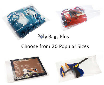 1000 1.5 Mil Plastic Clear Poly Bags Multipurpose Flat Open Top Packing Baggies