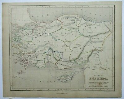 Antique Map of Asia Minor by William & Robert Chambers 1845