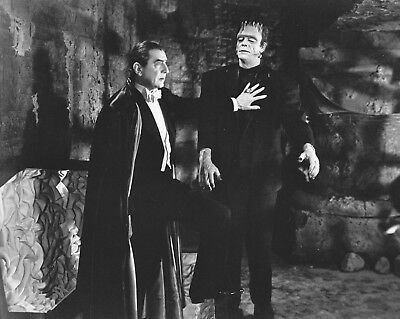 Dracula Bela Lugosi & Frankenstein 1948 horror movie 8x10 photo *SALE*