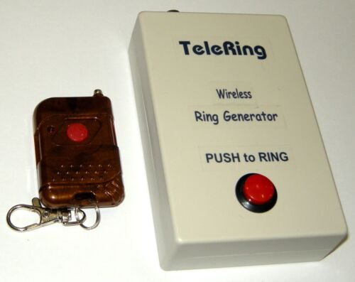 """""""WIRELESS REMOTE"""" RING GENERATOR for Stage or Screen  Prop, Tele phone Ringer q"""