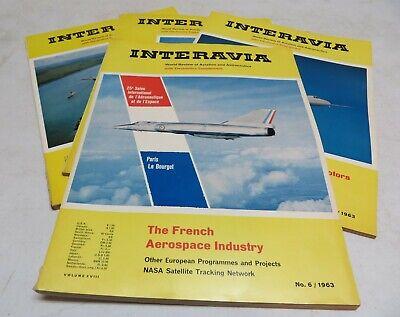 Interavia Review Of World Aviation Lot Of 4 Magazines 1963 NASA Satellite