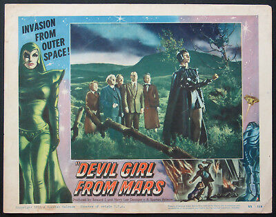 DEVIL GIRL FROM MARS PATRICIA LAFFAN SCI-FI 1955 LOBBY CARD #3