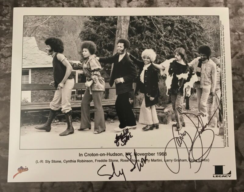 GFA Larry Freddie & Sly * SLY AND THE FAMILY STONE * Signed 11x14 Photo S1 COA