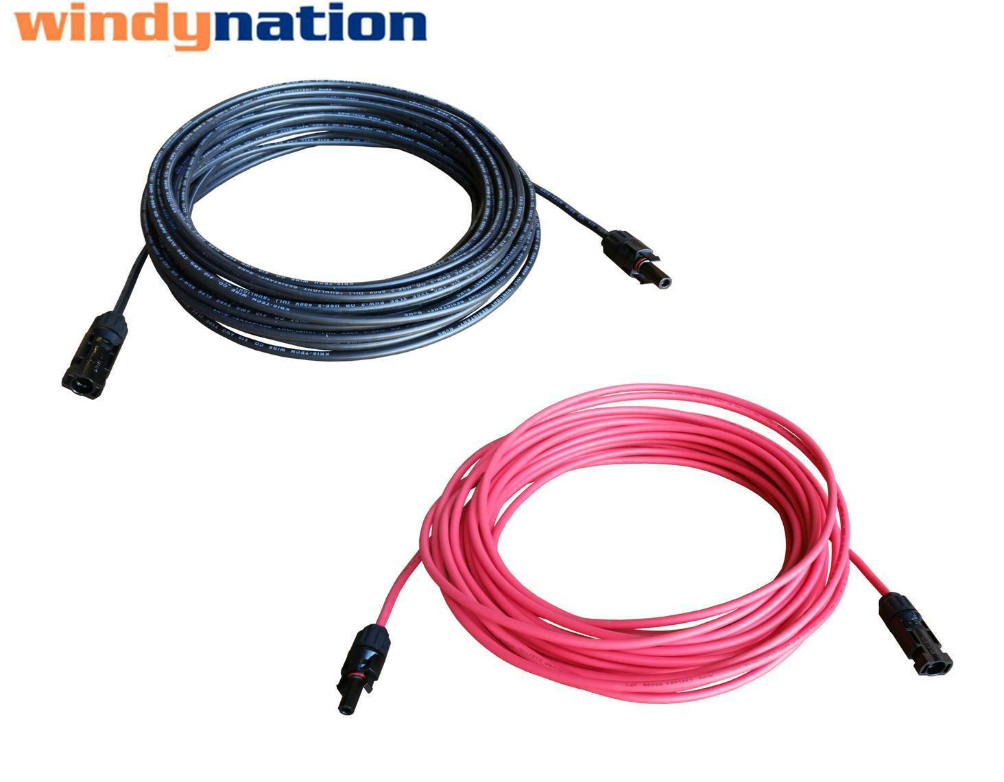 1 Pair Black + Red Solar Panel Extension Cable Wire MC4 Conn