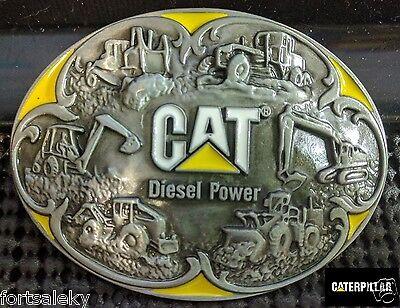 CAT CATERPILLAR diesel power Belt Buckle Farming Construction Gold Rush
