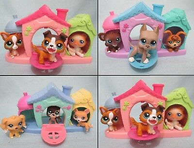 - Littlest Pet Shop Triplet House Playset And Random Lot of 3 Puppy Dogs Lps
