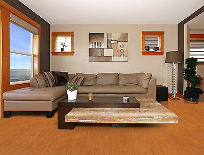 - Warm, Comfortable White Leather 7/16' 11mm Cork Floating Floor 6