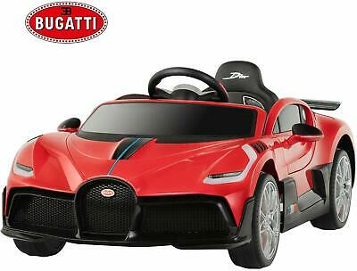 12V Electric Licensed Bugatti Divo Kids Ride on Car w/ RC Safety Lock Toys Red