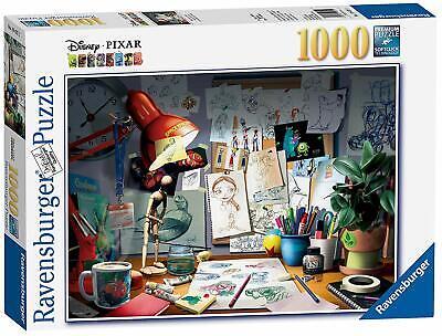 Ravensburger Disney Pixar - The Artist's Desk Puzzle 1000 Piece Jigsaw Puzzle (Cardboard Jigsaw)