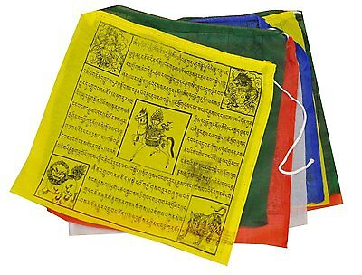 "Buddhist Tara Buddha Windhorse Cotton Prayer Flags 6"" Nepal Tibet 5 Rolls YM02"