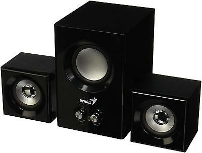 Genius Speaker 31731066101 SW-2.1 375 Subwoofer 2xSatellites 12W Wood/Black™