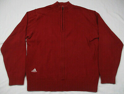 ADIDAS 1/4 Zip Up Pullover Sweater, Golf,  Size Mens Small, Cotton Blend