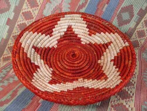 Southwestern Style Basket    Medium Size Star Basket in Rust     over 8 inches