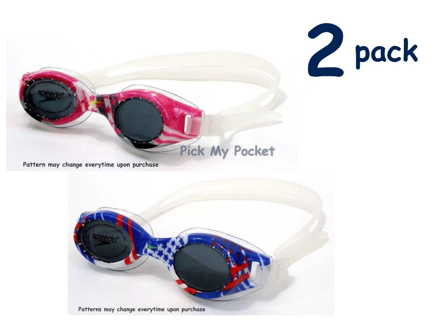 Speedo Junior Hydrospex Swim Goggle Vibrant PINK / BLUE - 2