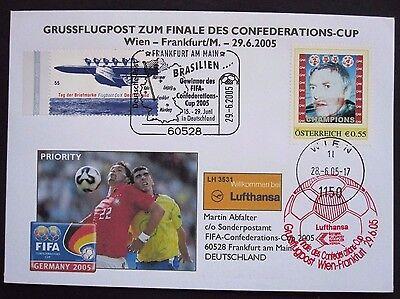 Österreich Brief Grussflugpost PM Champions FIFA Confederations-Cup 2005 SST