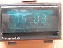 Russian Soviet Electric Table Clock WATCH ELEKTRONIKA alarm Digital Vintage USSR