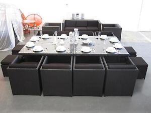 12 Seat Outdoor Wicker Dining Set Wangara Wanneroo Area Preview