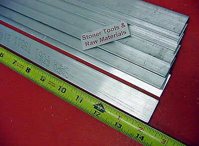 8 Pieces 18 X 1-12 Aluminum 6061 Flat Bar 14 Long .125 Plate Mill Stock