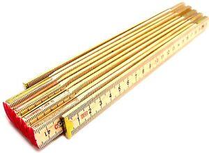 Wooden Yard Stick Folding Ruler Rule Measure 2m Metre Ruler 6ft Wooden Ruler New