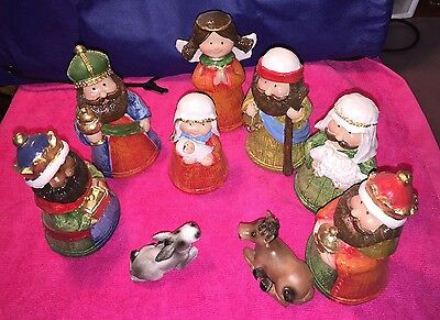 9 Pieces Nativity Set Beatiful For Christmas Hand Made (Plaster) See The Picture](Nativity Sets For Christmas)