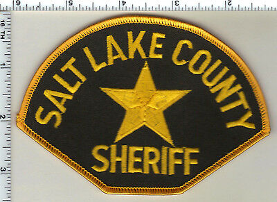 Salt Lake County Sheriff (Utah) Green Background Shoulder Patch from the 1980's