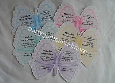 UNIQUE PERSONALIZED BUTTERFLY BABY SHOWER, BIRTHDAY PARTY CUSTOM INVITATIONS](Butterfly Birthday Invitations)