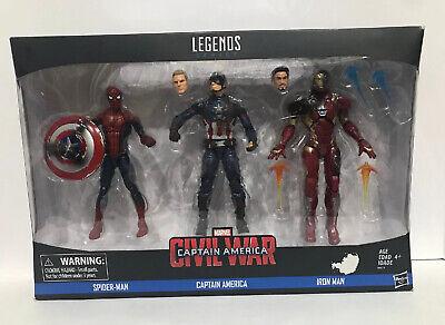 Marvel Legends Series Civil War 3-Pack Captain America, Iron Man & Spider-Man