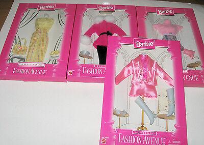 Fashion Avenue NRFB Set Of 4 Barbie Fashion Avenue Clothes Boutique Outfits