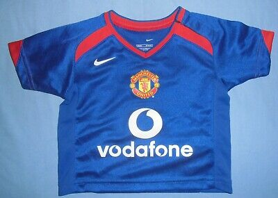 Manchester Utd/2005-2006 Away  - NIKE - KIDS Shirt/Jersey. Size 3-6m 62-68cm image