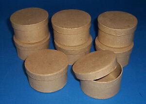Paper-papier-mache-round-box-set-of-8-gift-craft-jewel