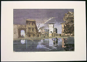 GIANCARLO-MICHELI-SERIGRAFIA-CASA-DELLA-GIL-1933-L-GO-ASCIANGHI-ROMA-Cm-30x42