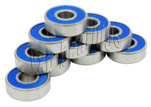 10 Bike Wheel/axle Ball Bearings 6000-2rs Sealed Vxb