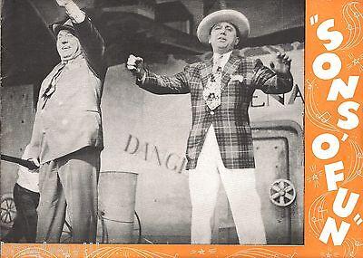 "Joe Besser ""SONS 'O FUN"" Olsen & Johnson / Sammy Fain / Wynn Murray 1942 Program"