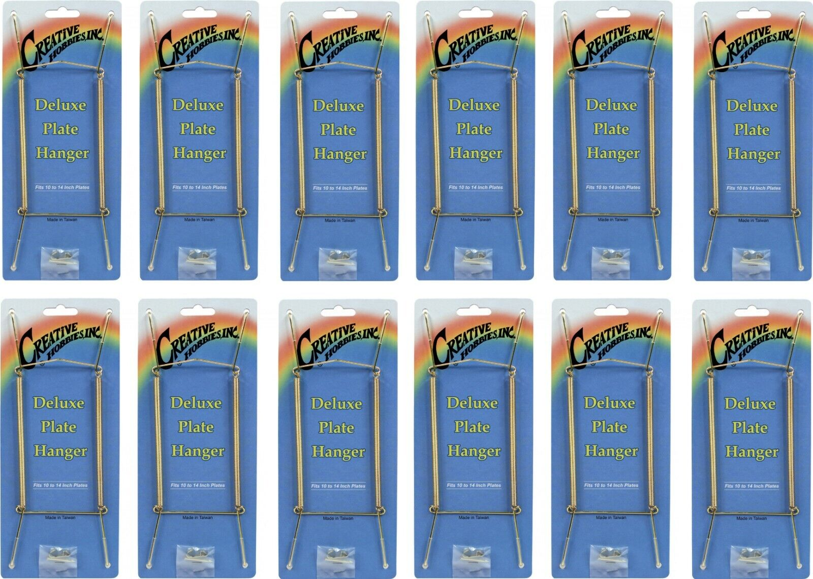 Gold Plate Display Hangers, Spring Type,Hold 10 to 14 Inch Plates -Pack of 12 Crafts