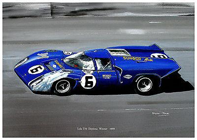 """Penske   Lola T70  A2   24""""x18""""   Print"""