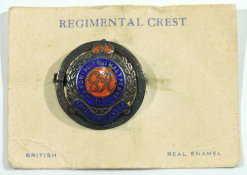 British Royal Engineers Enamel Pin on Original Card