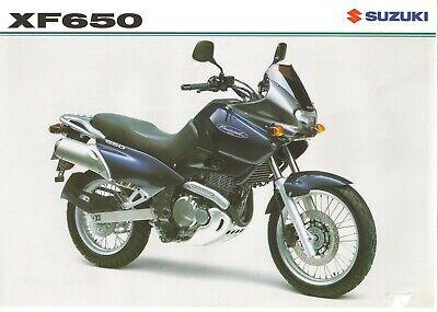 Suzuki XF650 Freewind UK sales brochure XF650X 1999
