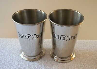 Collectable Set of 2x Buffalo Trace Julep Bourbon Whiskey Cocktail Drinking Cups