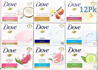 12 Dove Purely Pampering Beauty Cream Bar Soap Bath Assorted Varieties 4.75 (Beauty Bath Bar Soaps)