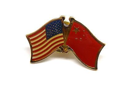 US and China Flag Lapel Pin / US & China Pin